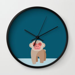 Japanese Macaque Wall Clock