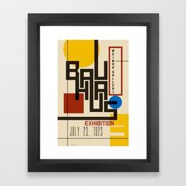 Bauhaus Poster I Framed Art Print