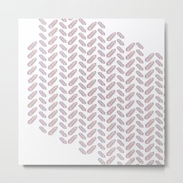 Quartz Fishbone Metal Print