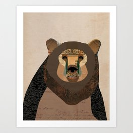 Bear Collage Art Print