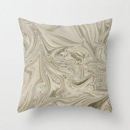 Desert Clay Marble Throw Pillow