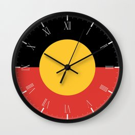 Australian Aboriginal Flag Wall Clock