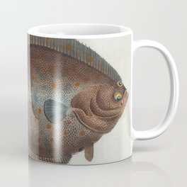 Vintage Illustration of a Flounder Fish (1785) Coffee Mug