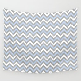 Chevron - light blue and grey Wall Tapestry