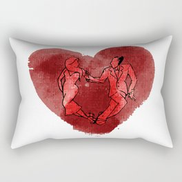 Colgada de Corazon Rectangular Pillow