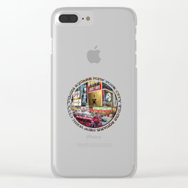 Times Square New York City (badge emblem on white) Clear iPhone Case