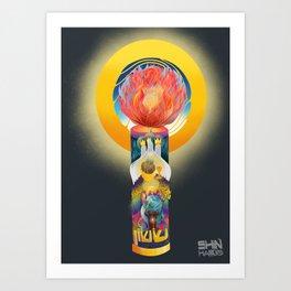 Advent: Candle of Joy Art Print