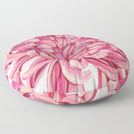 Pink Chrysanthemum Floor Pillow