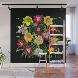 Display of daylilies I Wall Mural