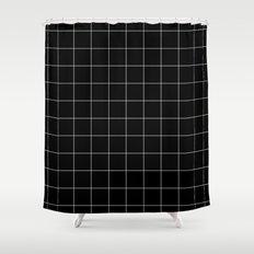 Black Grid /// www.pencilmeinstationery.com Shower Curtain