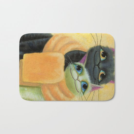 cat play Bath Mat