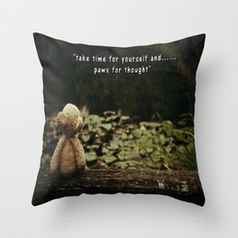 Paws for Thought Throw Pillow
