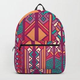 Tribal ethnic geometric pattern 001 Backpack
