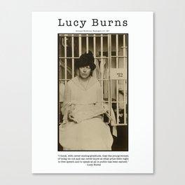Lucy Burns - 1917 Canvas Print