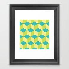 Lemon cubes Framed Art Print