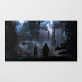 Chewie we're home Canvas Print