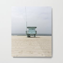 Venice Beach Lifegaurd Stand Metal Print