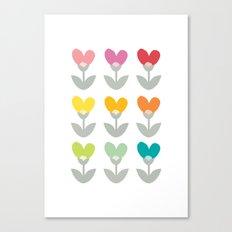 Heart petals Canvas Print