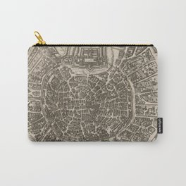 Vintage Map of Milan Italy (1575) Carry-All Pouch