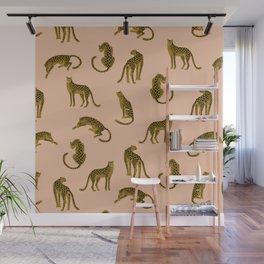 Blush Leopard Pattern Wall Mural