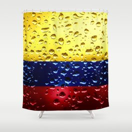 Flag of Columbia - Raindrops Shower Curtain
