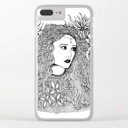 Lady Moon Clear iPhone Case