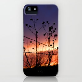 Fencepost Silhouette KS iPhone Case