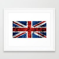 british flag Framed Art Prints featuring British Flag by TOJO Art