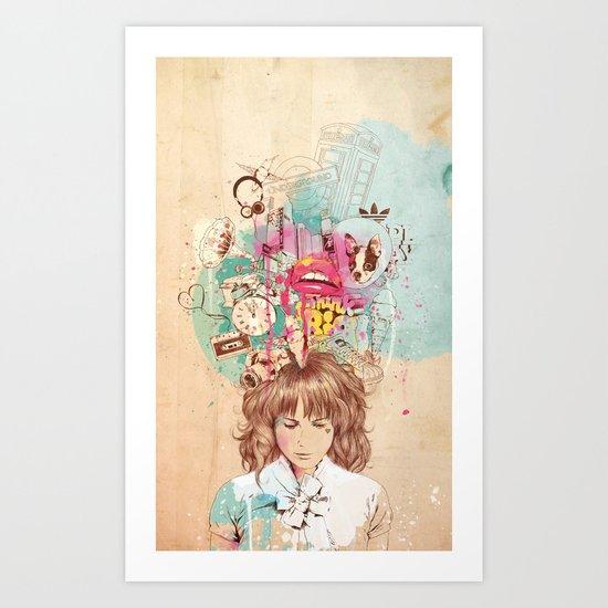 Thinking Art Print