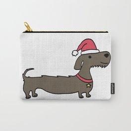 Dacshund Santa Carry-All Pouch