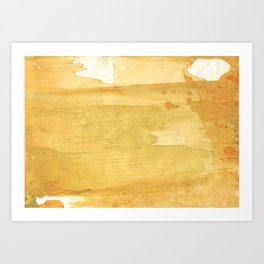 Sandy brown abstract wash painting Art Print
