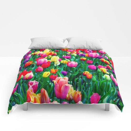 Tulips 1 Comforters
