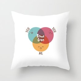 you+you+me Throw Pillow