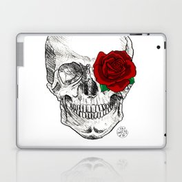 Rose Skull Laptop & iPad Skin