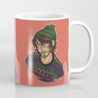 grantaire Mugs featuring -R by FlockeInc