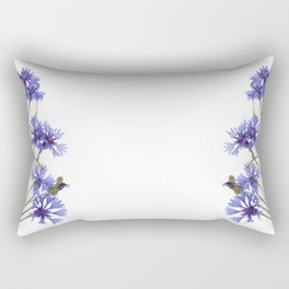 Slant blue cornflower flowers Rectangular Pillow