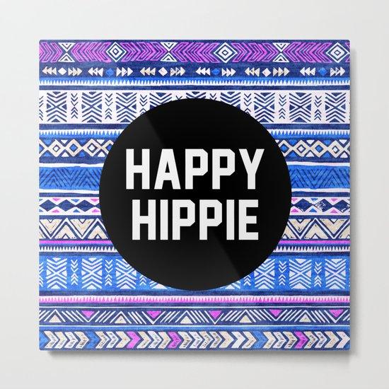 Happy hippie Metal Print