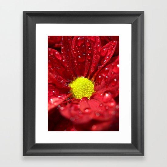 wet bloom I Framed Art Print