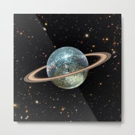 Saturn Disco II Metal Print