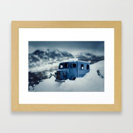 Little Cars, Big Planet (Winter) Framed Art Print