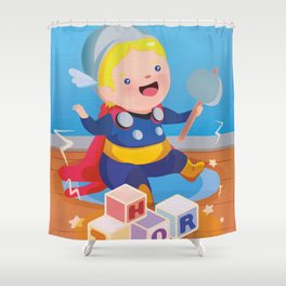 Baby Thor Shower Curtain