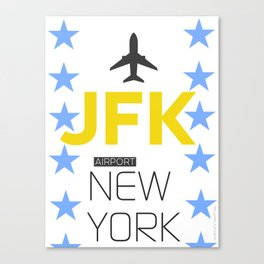 JFK New York Canvas Print
