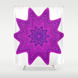 Violet abstract star Shower Curtain