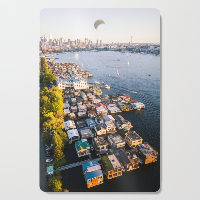 Houseboats on Lake Union Cutting Board