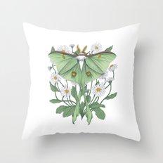 Metamorphosis - Luna Moth  Throw Pillow