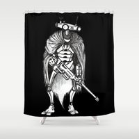 techno Shower Curtains featuring Techno Prisoners by BarbeeAnne