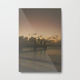 Pescadores en Dorado Metal Print