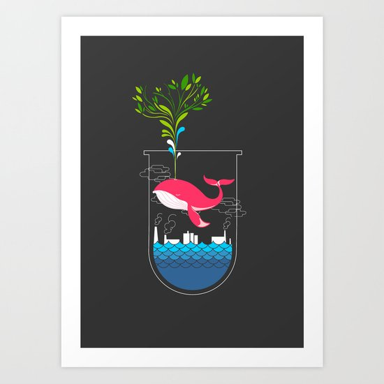 Nature Whale Art Print