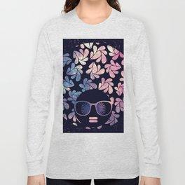 Afro Diva Mauve Teal Galaxy Long Sleeve T-shirt