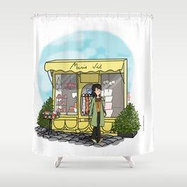 Balade à Honfleur Shower Curtain